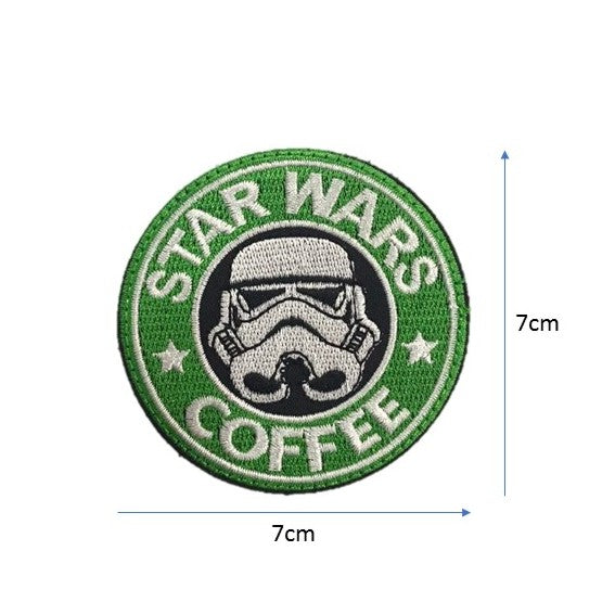 Starwars COFFEE embroidery badge