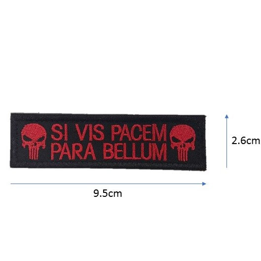 Para Bellum Punisher Embroidery Patch Red