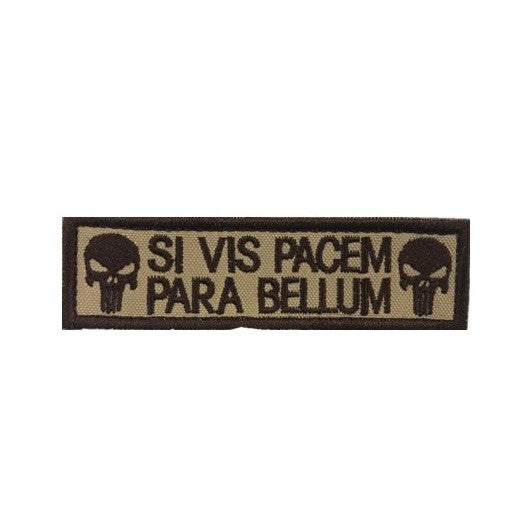 Para Bellum Punisher Embroidery Patch Khaki