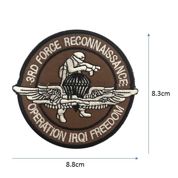 3RD FORCE RECON Embroidery Patch Brown