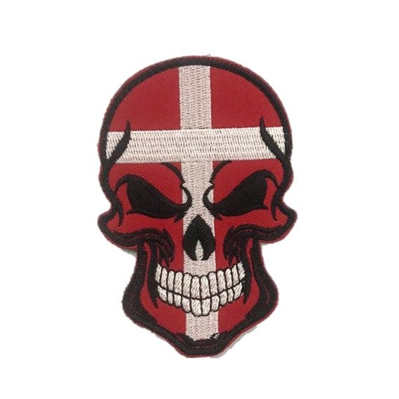 Denmark Skull Embroidery Patch