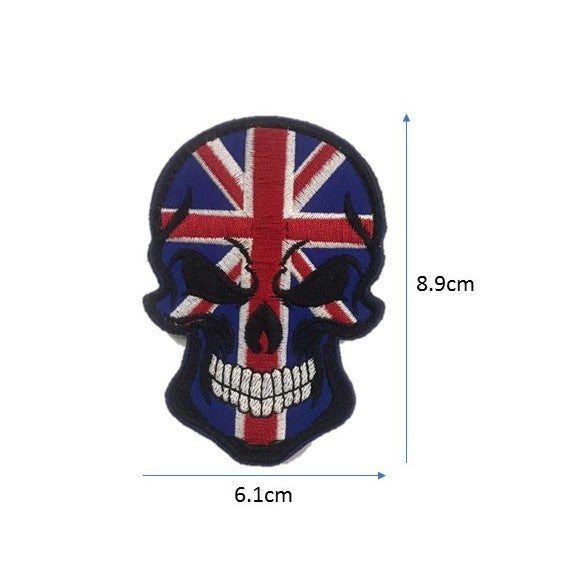 Australia Skull Embroidery Patch
