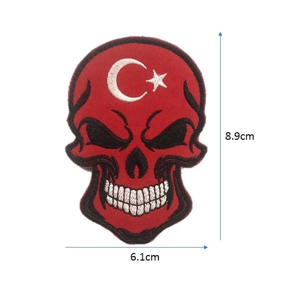 Turkey Skull Embroidery Patch