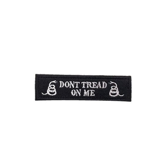 Don't Tread on me Embroidery Patch Black