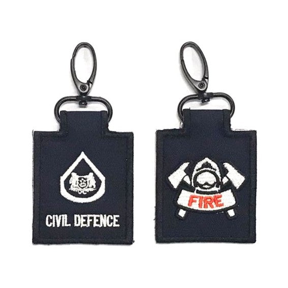SCDF WO with Fire Badge Mini Rank Keychain