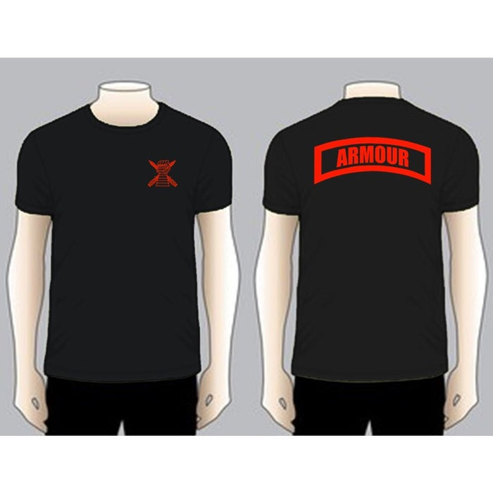 ARMOUR Black Unit T-shirt, Red on Black