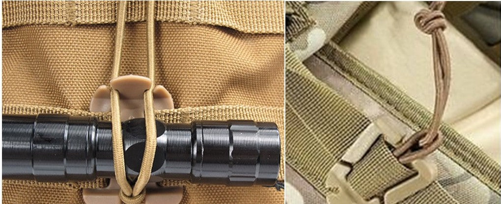 Molle Webbing Tactical Cord Clips Buckle