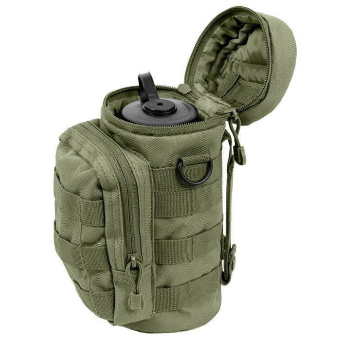 Tactical MOLLE Compatible Water Bottle Pouch, Army Green