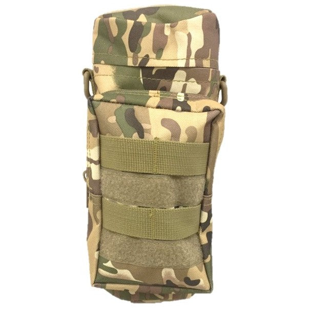 Tactical MOLLE Compatible Water Bottle Pouch, Multi Cam