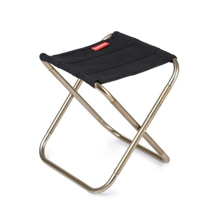 Small Aluminum Alloy Foldable Stool , Black