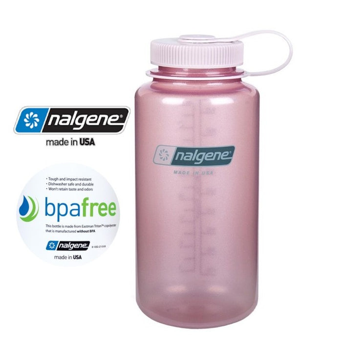 Nalgene 32oz Wide mouth 1000ml Glitter Pink / Fire Pink