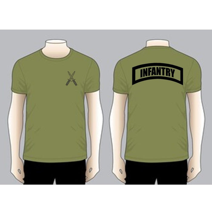 INFANTRY Olive Green Unit T-shirt