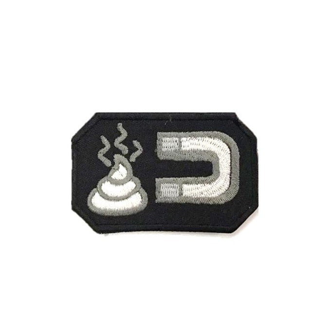 Magnet Shit Embroidery Patch Black