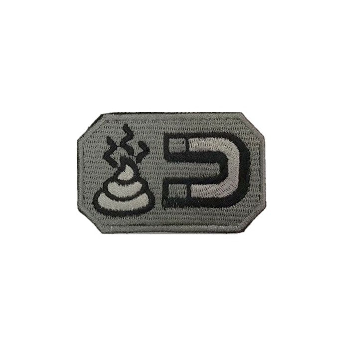 Magnet Shit Embroidery Patch Grey