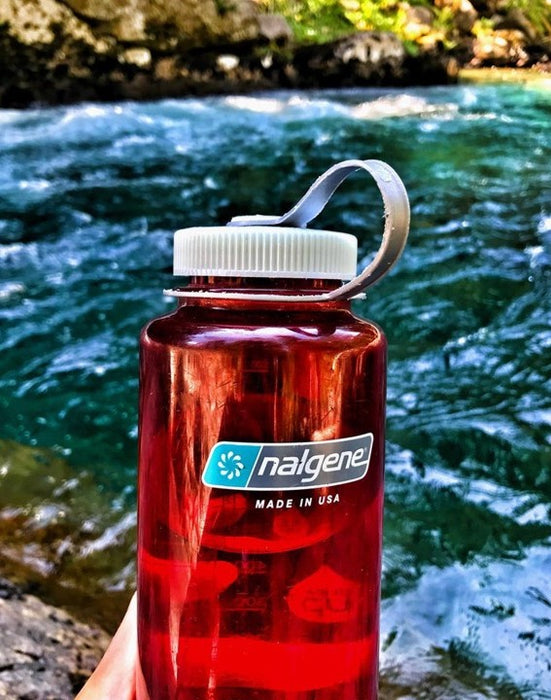Nalgene 32oz Wide mouth 1000ml Pomegranate