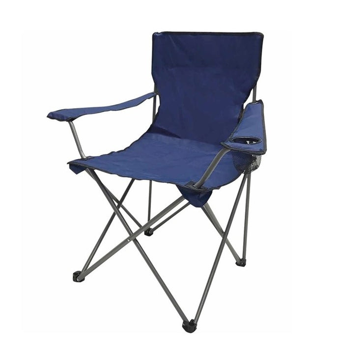 Field Chair with arm rest, Folding, Navy Blue