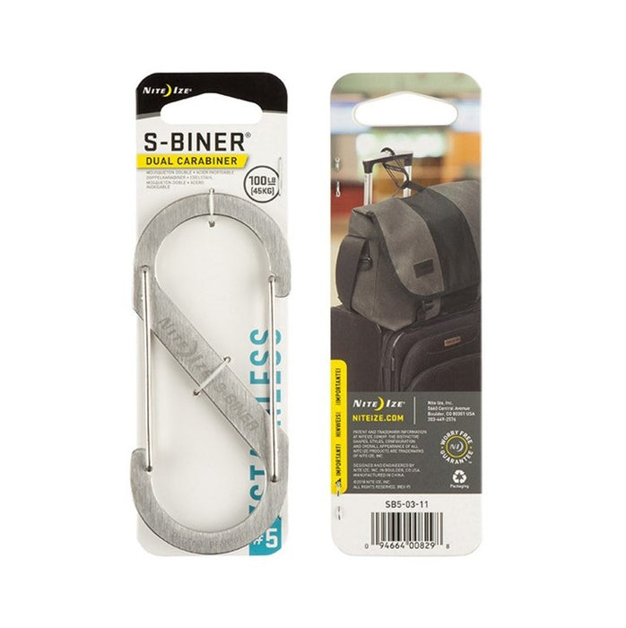 Niteize S-Biner Dual Carabiner Stainless Steel #5 - Stainless