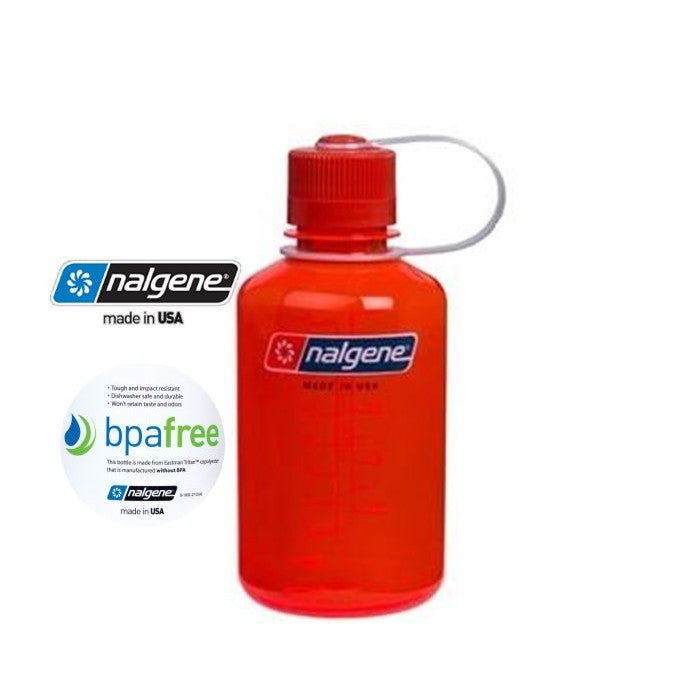 Nalgene 16oz Narrow Mouth 500ml Safety Orange