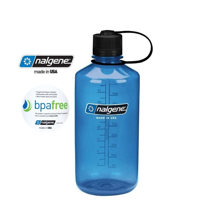 Nalgene 32oz Narrow Mouth 1000ml Blue