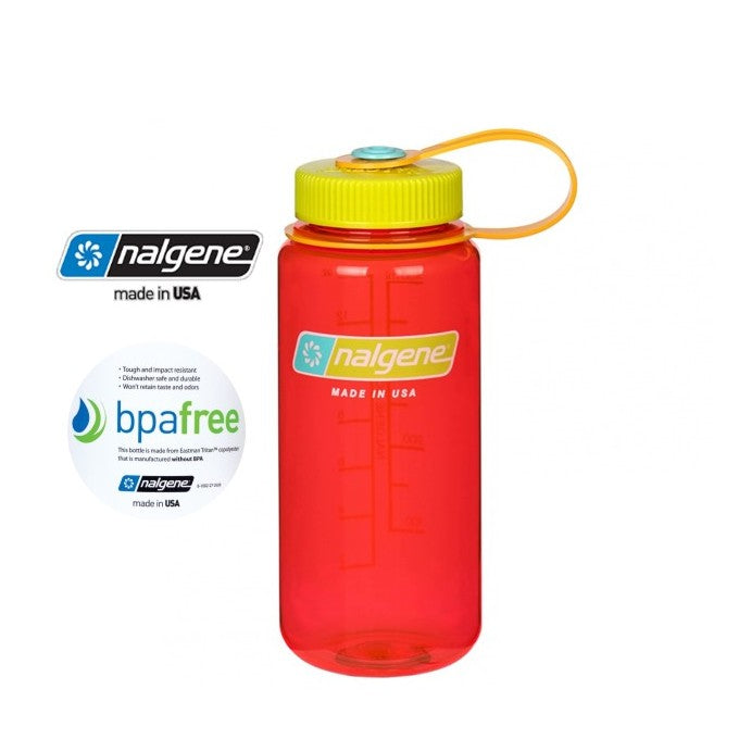 Nalgene 16oz Wide mouth 500ml Pomegranate
