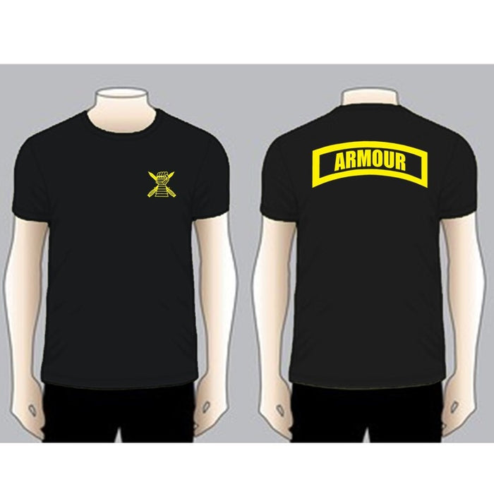 ARMOUR Black Unit T-shirt, Yellow on Black