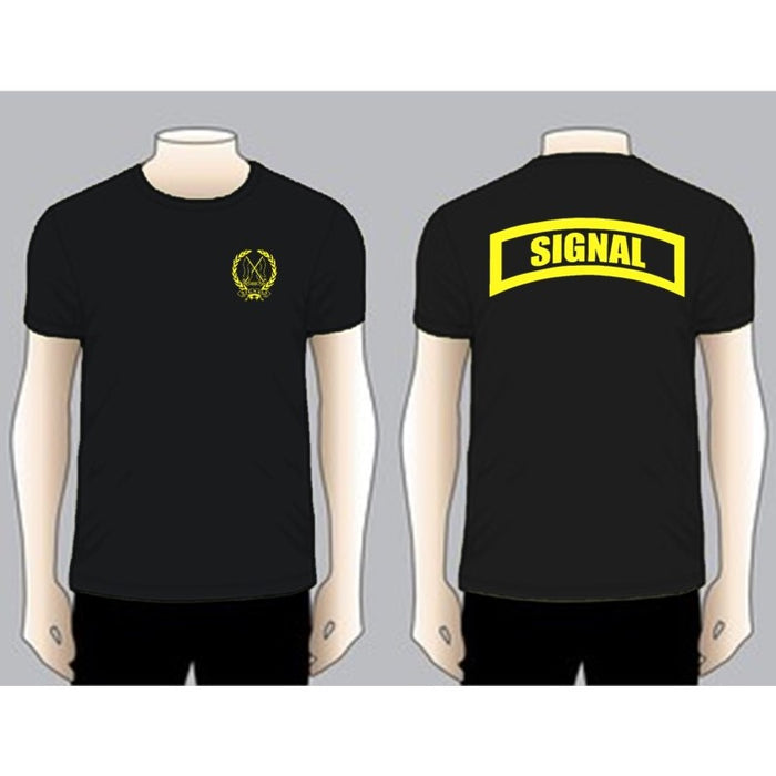 SIGNAL Black Unit T-shirt, Yellow on Black