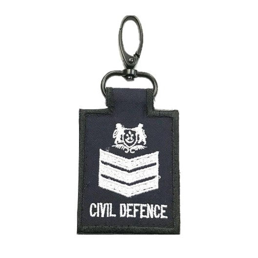 SCDF Staff Sergeant Mini Rank Keychain