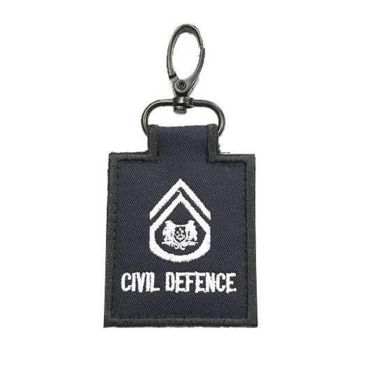 SCDF SWO Mini Rank Keychain