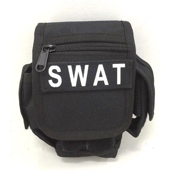 SWAT Military bag Waist pack Tactical Utility Tool Drop Pouch Carrier, Black