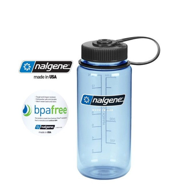 Nalgene 16oz Wide mouth 500ml Tuxedo Blue