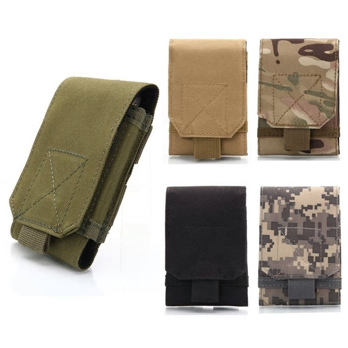 MOLLE Tactical Smartphone Wallet Pouch Military 1000D Nylon Hook Loop Belt Phone Holster Cover Case