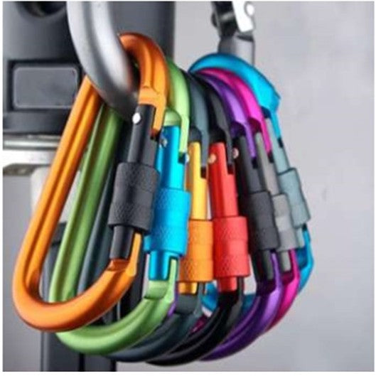 Alloy Screw Lock Carabiners, D Type
