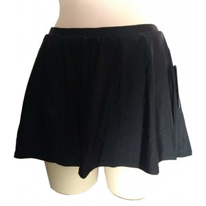 Black Skater flared swim skirt front on mannequin