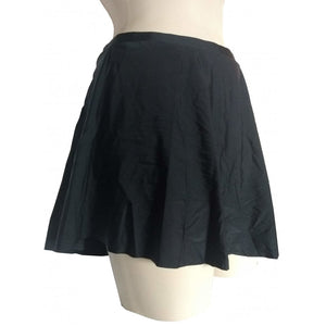 Black Skater assymmetric swim skirt tie side detail side on mannequin