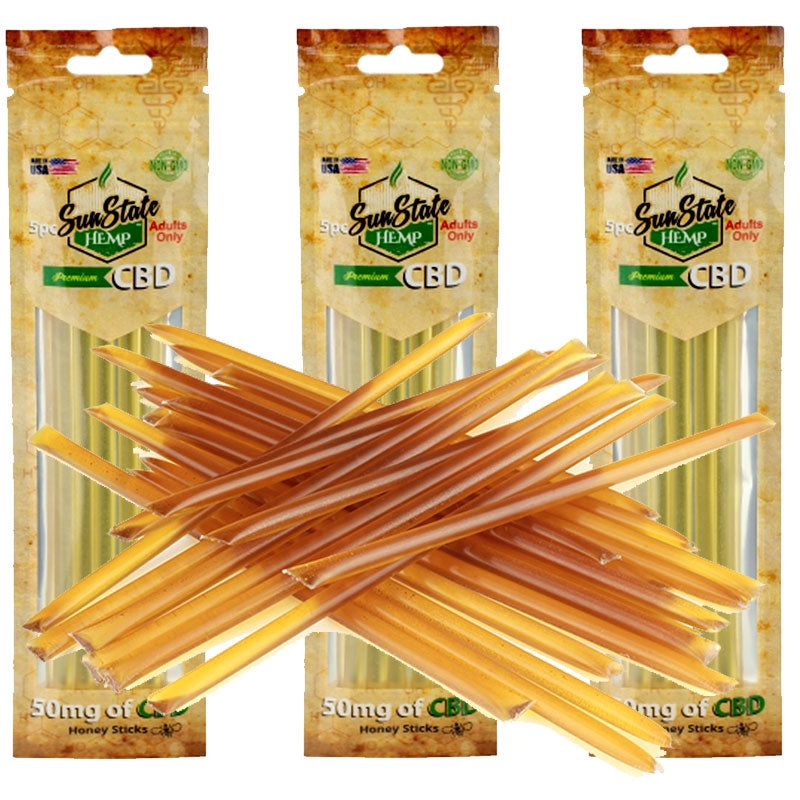 SUNSTATE CBD HONEY STICKS 50MG (5 PACK)