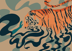 Tiger-animal-illustration-Ishtha-Kapoor
