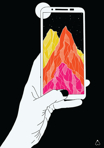 Mountains-illustration-wallpaper-Ishtha-Kapoor