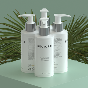 4 of the hydrating soothing cucumber cleanser with vitamin K & B5 with beautiful plants