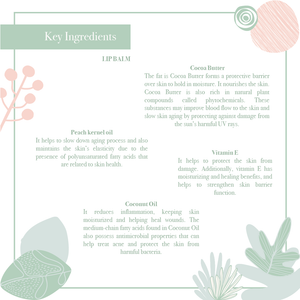 Key ingredients of the lovely nourishing hydrating your best lip balm