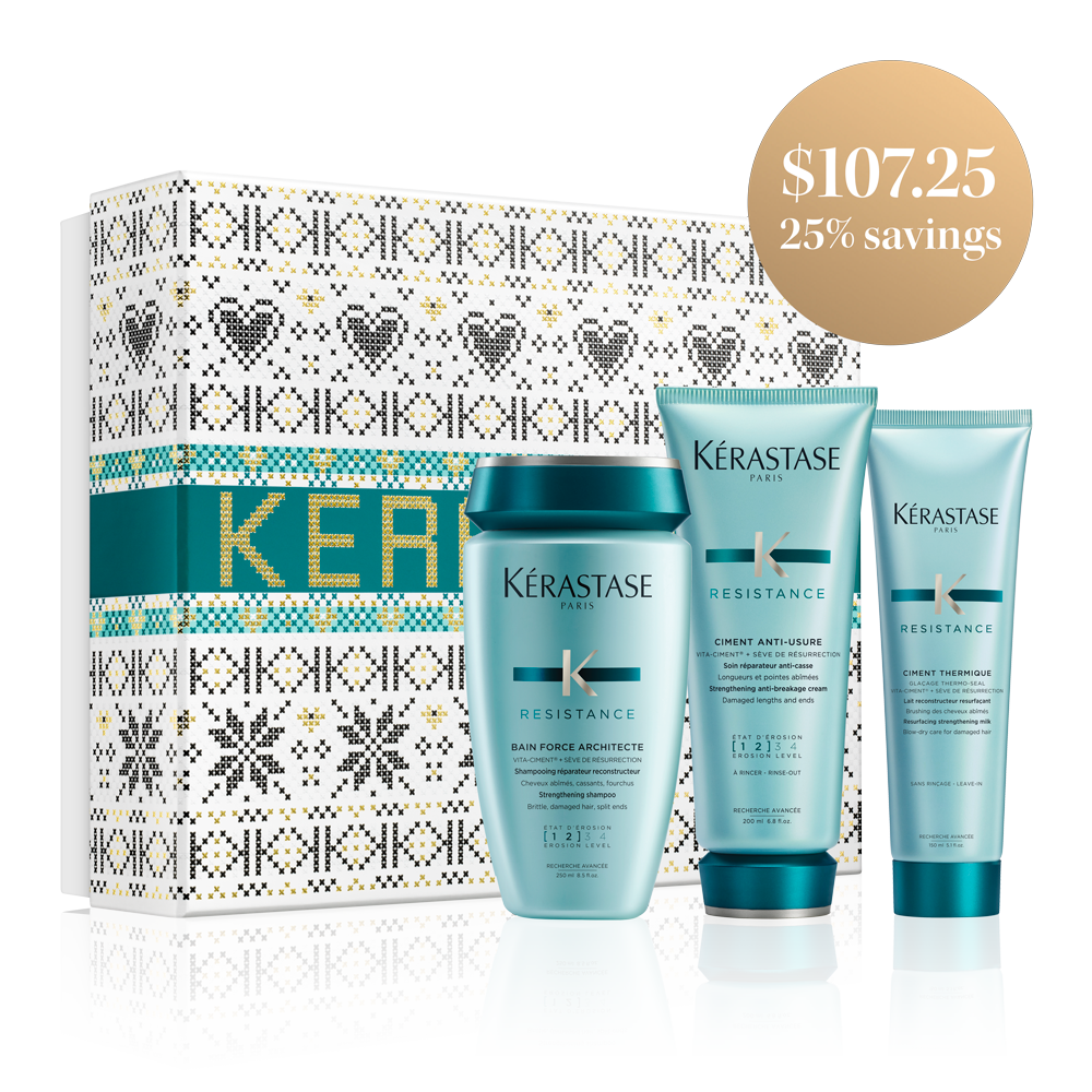 KERASTASE RÉSISTANCE FORCE ARCHITECTE HOLIDAY GIFT SET