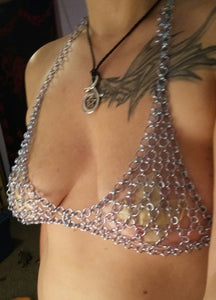 Japanese Weave Chainmail Bra - Made to Order