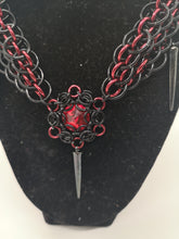 Load image into Gallery viewer, Morgana Swarovski Crystal Dragonscale Weave Choker Necklace