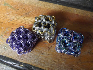Chainmail Cube Fidget Toys - Japanese 8 in 2 - Geometric Toy - Made to Custom Order