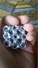 Load image into Gallery viewer, Chainmail Cube Fidget Toys - Japanese 8 in 2 - Geometric Toy - Made to Custom Order