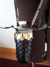 Load image into Gallery viewer, Scalemail Waterbottle Holder - Dragonscale Waterbottle Carrier/Sling - Made to Custom Order