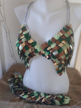Load image into Gallery viewer, Valkyrie Scale Maille Bra - Made to Order