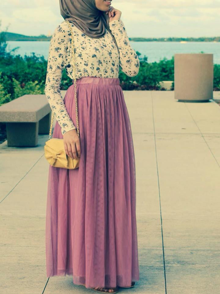 9f363bce4a Orchid Tulle Maxi Skirt - Delicate Hijabi