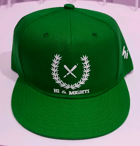 hi & mighti Green snapbacks hats