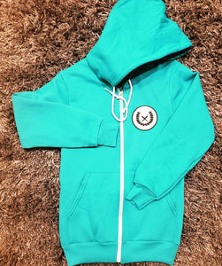 Women's Hooded Sweatsuit cyan
