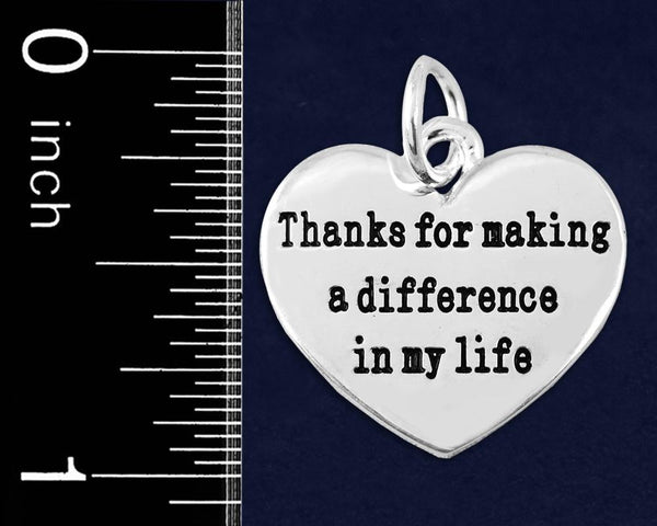 10 Thanks For Making A Difference Charms (10 Charms) - Fundraising For A Cause